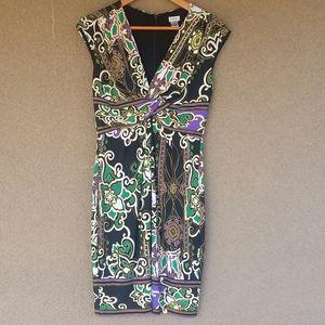 Gorgeous Cache Brand Twist Bodice Dress Size 8